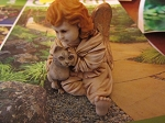 Adoree Harmony Kingdom Angel and Cat Treasure Jest NIB