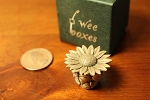 Wee Box Daisy or Sunflower mini pewter trinket box