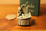 Wee Box Baby's First Curl Miniature pewter trinket box