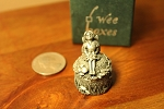 Wee Box Girl's Tooth Fairy Wee Peweter Trinket Box for Molar Tooth