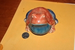 Raku toad, larger size.