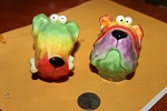Dog head salt and pepper shakers