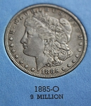 1885  O Morgan Silver Dollar   vf