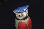 Raku Owl small South African pottery