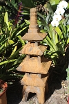 Statuary Empress Pagoda  Stained Rust 44