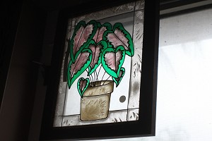 Stained Glass Caladium frame