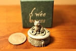 Wee Box Cat or kitten mini pewter trinket box