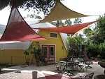 Shade Sail 12' Triangle red or rust