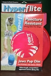 Puncture resistant Jaws dog frisbee disc