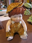 Zampiva Baby Boy Yellow Brown Plaid outfit med
