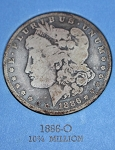 1886 O Morgan Silver Dollar  G