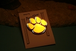 Bentley Dog Paw Mirror Pin  Whimsical Design Pin Jewelry